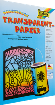 Papier transparent arc-en-ciel