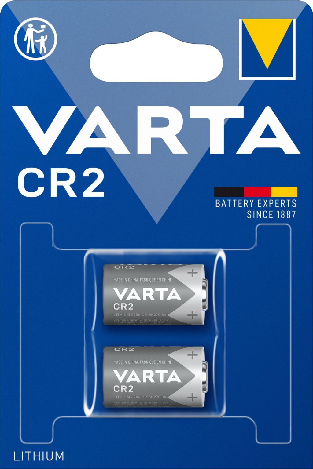 VARTA Batterie PHOTO LITHIUM CR2