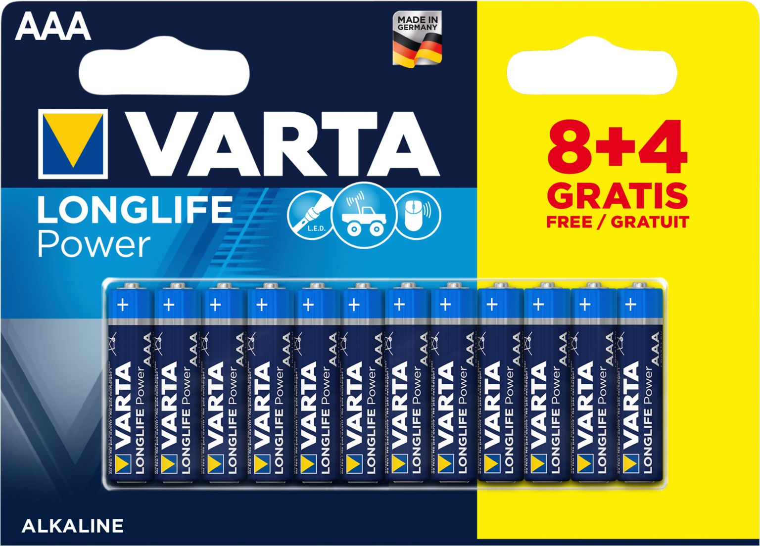VARTA Batterie AAA Longlife Power