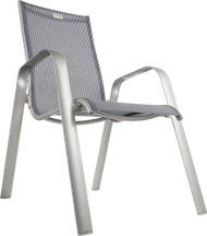 CHAISE EMPILABLE ACATOP haute, platine