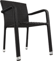 Chaise Wicker CARLOS noire