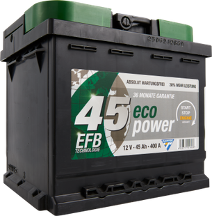 Batteria auto ECO POWER EFB 45