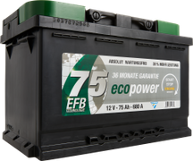 Autobatterie ECO POWER EFB 75