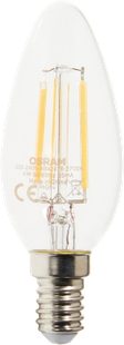 LED Fil. CL B37 E14 470LM clair