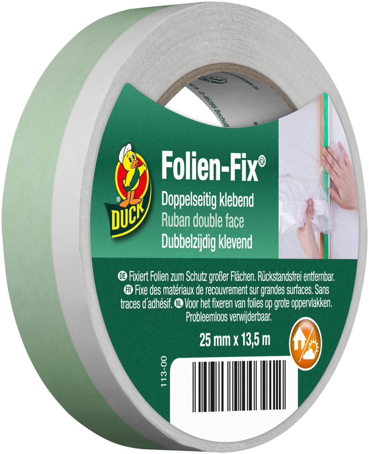 Image of DUCK Doppelseitiges Klebeband FOLIEN FIX