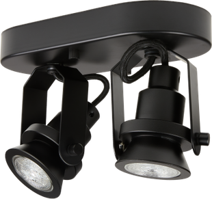 Lampada spot a LED 1906 DOUBLE BLACK