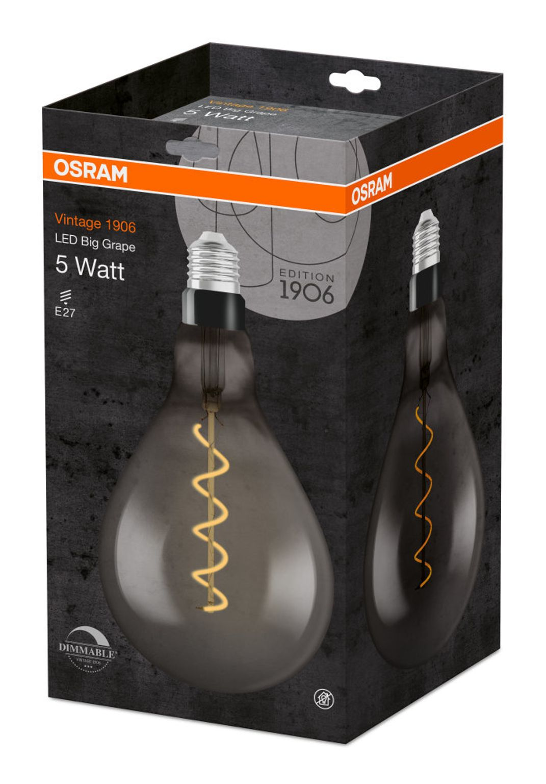OSRAM LED-Leuchtmittel VINTAGE BIG GRAPE 1906 E27 110lm