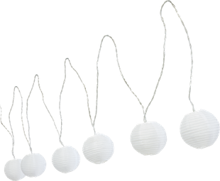 LED Party Kette Weiss