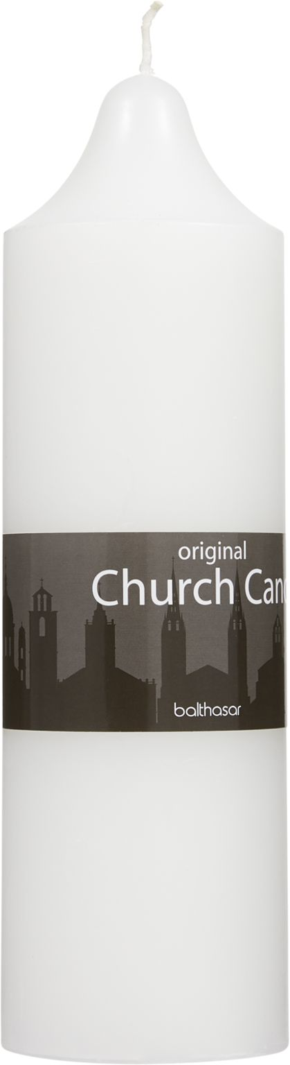 Church Candle weiss 7.5 x 25 cm