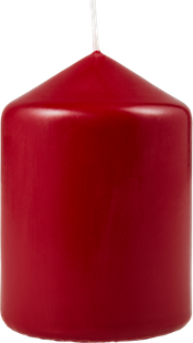 BOUGIE CYLINDRIQUE ROUGE ANTIQUE
