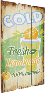 Holzschild COLD FRESH LEMONADE