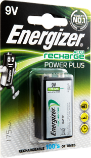 BATTERIE Power Plus, E-Block, HR22, 9V