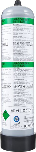 Image of EUROTRE Gasflasche ARGON+CO2 60LT